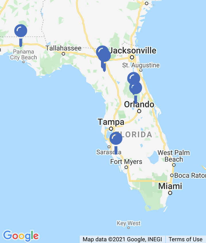 Map of Natural Springs in Florida